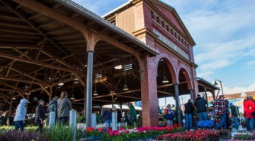 Flower Days At Eastern Market In May