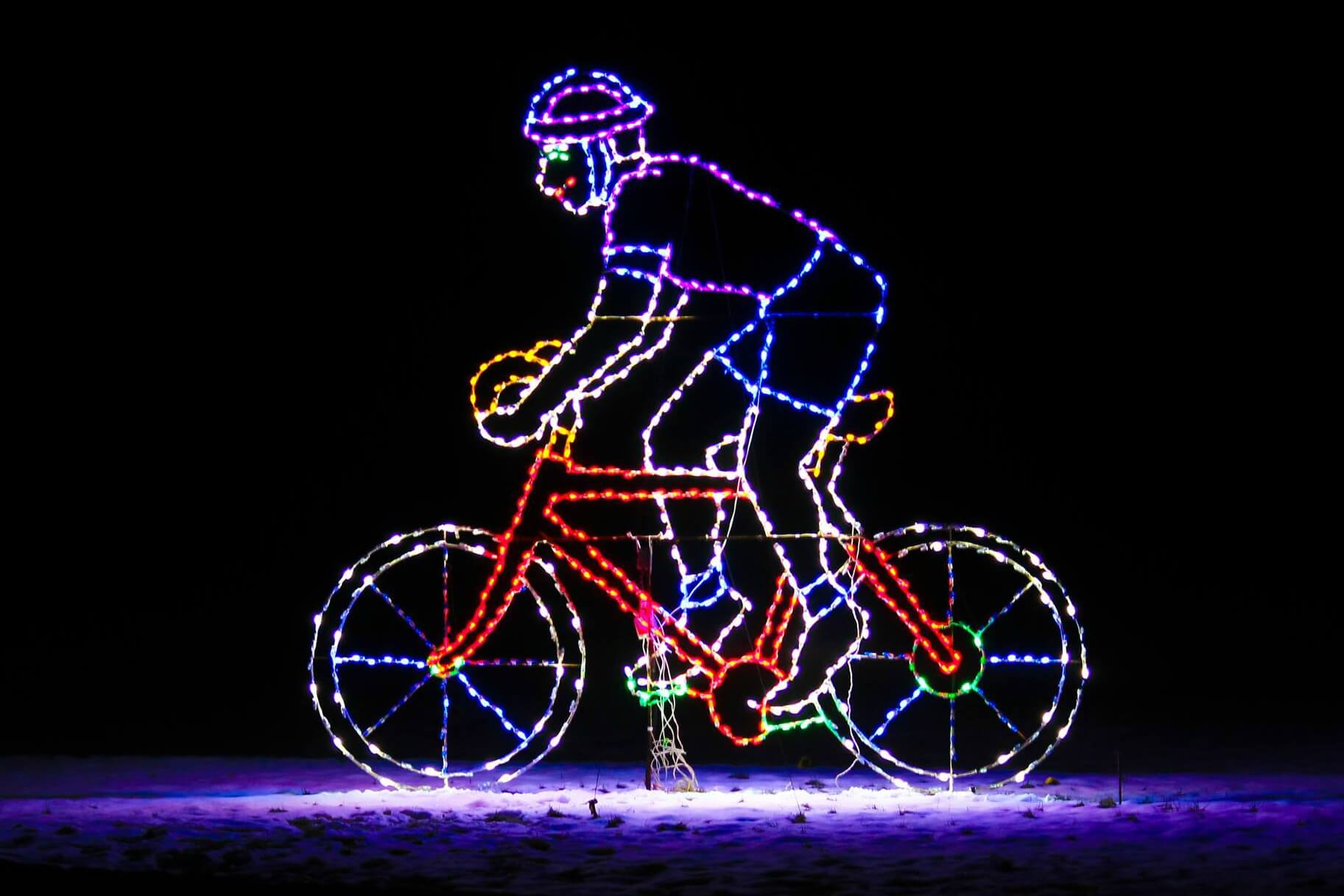 Bike Through The Lights