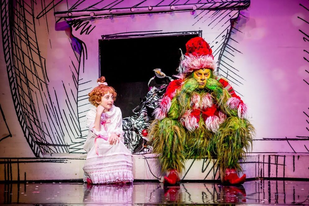 Shuler-Hensley-as-The-Grinch-and-Presley-Ryan-as-Cindy-Lou-Who-in-the-2014-Equity-Touring-Company-of-Dr.-Seuss-HOW-THE-GRINCH-STOLE-CHRISTMAS-The-Musical-3-c-BlueMoon-Studios