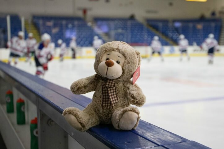 USA hockey teddy bear