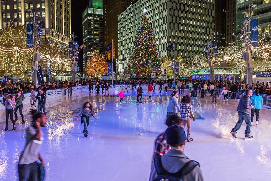 Skate The Rink At Campus Martius