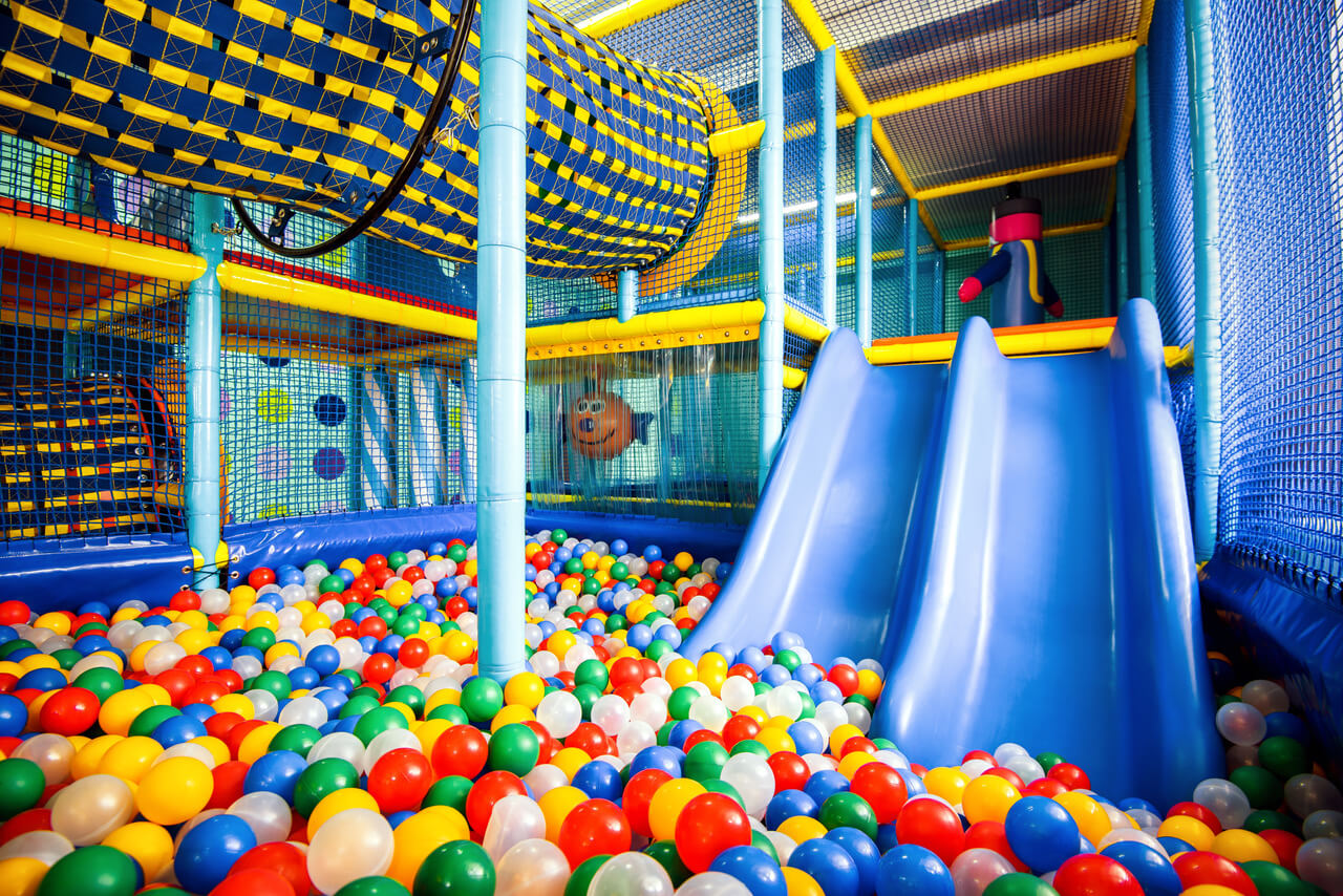 Moscow - June 24, 2014: Modern Children Playground Indoor