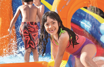 SUMMER GIVEAWAY: Inflatable Water Slide From Five Little Monkeys