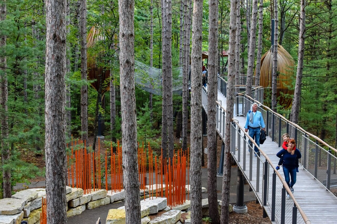 Explore Nation's Longest Canopy Walk At Dow Gardens
