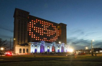 Halloween Drive-Thru Light Show Coming To Michigan Central Station