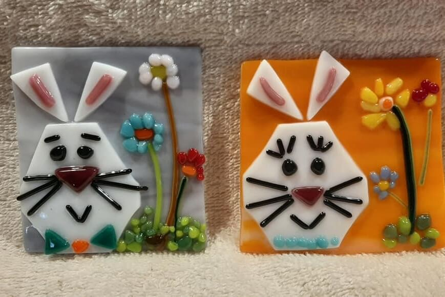 Glass Fusing: Easter Bunny Night-lite