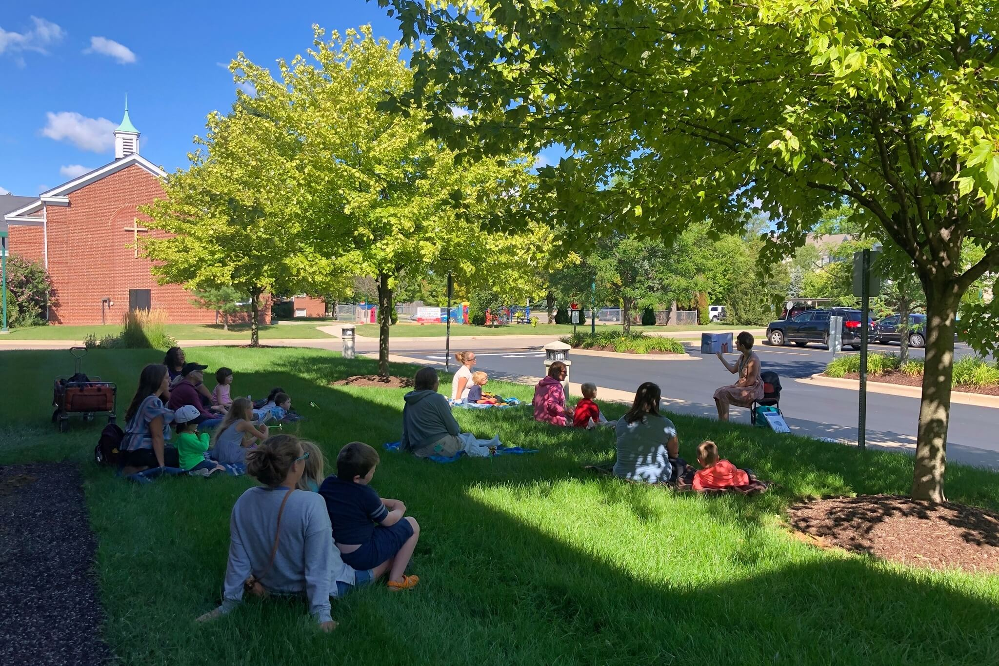 redford library (1) outdoor storytime
