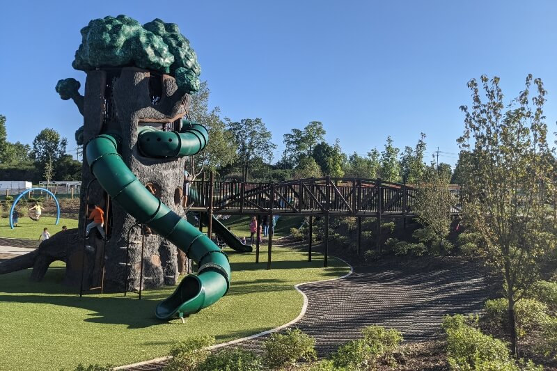 Innovation Hills Debuts Largest Playground In Michigan
